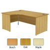 Jemini Oak Left Hand Panel End Radial Desk 1600mm KF838064