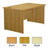 Jemini 1600mm Left Hand Cantilever Wave Desk Beech KF838093