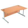 Jemini 1600mm Right Hand Cantilever Wave Desk Beech KF838096