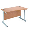 Jemini 1600mm Right Hand Cantilever Wave Desk Oak KF838097