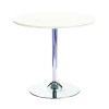 Arista White/Chrome 800mm Small Bistro Trumpet Table KF838544