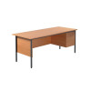 Jemini Intro 4 Leg Desk 1800mm With 3 Drawer Pedestal Bavarian Beech KF838805