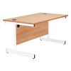 Jemini Oak/White 1400mm Rectangular Cantilever Desk KF839294