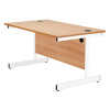 Jemini Oak/White 1800mm Rectangular Cantilever Desk KF839298