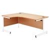 Jemini Oak/White 1200mm Right Hand Radial Cantilever Desk KF839306