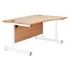 Jemini White/White 1600mm Left Hand Wave Cantilever Desk KF839320