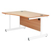 Jemini Maple/White 1600mm Right Hand Wave Cantilever Desk KF839323