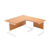 Jemini Beech/White 1000mm Return Cantilever Desk KF839352
