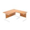 Jemini Oak/White 1000mm Return Cantilever Desk KF839353