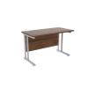Jemini Beech/Silver W1200 x D600mm Rectangular Cantilever Desk KF839581