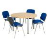 Jemini Oak 1200mm Circular Meeting Table (Dimensions: Dia 1200mm, H 730mm) KF840178