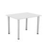 Jemini White 1200x800mm Rectangular Meeting Table KF840185