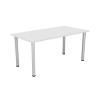 Jemini White 1600x800mm Rectangular Meeting Table KF840186