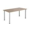 Jemini Grey Oak 1200x800mm Rectangular Meeting Table KF840195