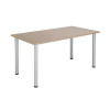 Jemini Grey Oak 1800x800mm Rectangular Meeting Table KF840197