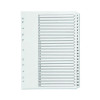 Q-Connect Multi-Punched 1-25 Reinforced White Board A4 Index Clear Tabbed KF97056