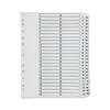 Q-Connect Multi-Punched 1-50 Reinforced White Board A4 Index Clear Tabbed KF97057