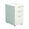 First Desk High Pedestal 3 Drawer 600mm Deep White KF98511