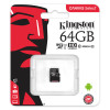 Kingston Canvas Select microSDXC 64GB (Class 10 UHS-I speeds of up to 80MB/s) SDCS/64GB