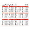 Letts Yearly Calendar 2020 (210 x 260mm, Freestanding or wall hanging) 20-TYC