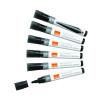 Nobo Liquid Ink Drywipe Black Bullet Tip Marker (Pack of 12) 1901073