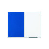 Nobo Combination Board Magnetic Drywipe and Blue Felt 900x600mm 1902257