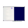 Nobo Combination Board Magnetic Drywipe and Blue Felt 1200x900mm 1902258