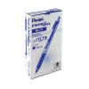 Pentel EnerGel Xm Retractable Liquid Gel Blue Pen (Pack of 12) BL77-C