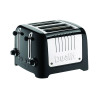 Dualit 4 Slice High Gloss Lite Toaster Black DA6205