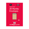 Envelopes C5 Peel & Seal Manilla 115Gsm (Pack of 20) POF27424
