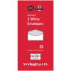 Envelopes Dl Gummed White 80Gsm (Pack of 5) POF27427