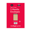 Envelopes C4 Peel & Seal Manilla 115Gsm (Pack of 5) POF27428