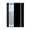Pukka Jotta A5 Notebook Wirebound Polypropylene Feint Ruled 160 Pages Black (Pack of 3) SBJPOLYA5
