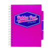 Pukka Pad Vision Wirebound Project Book A5 Pink (Pack of 3) 8611-VIS