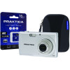 Praktica Luxmedia Z250 20mp 5x 64mb Camera Plus 16gb Card and Case Z250-S 16GBCASE