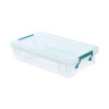 StoreStack 5.5 Litre Clear W400xD255xH80mm Storage Box RB90121