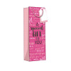Regent Gift Bags Wordy Pink Bottle (Pack of 6) Z723B