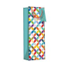 Regent Gift Bags Bright Link Geometric  Bottle (Pack of 6) Z730B