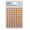 Blick Coloured Labels in Bags Round 8mm Dia 490 Per Bag Orange (Pack of 9800) RS002857