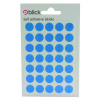 Blick Coloured Labels in Bags Round 13mm Dia 140 Per Bag Blue (Pack of 2800) RS003953