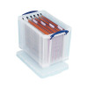 Really Useful Clear 19 Litre Plastic Suspension File Box RUP80213