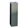 Silver Flat Top 6.6 Litre Cigarette Ash Tower Bin 316015