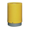 Outdoor Open Top Bin 75 Litre Yellow 321779
