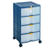 Mobile Storage Cabinet 4-Drawer Blue 329107