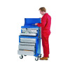 Tool Chest 8 Drawer Blue (W663 x D376 x H307mm, fully lockable) 329349