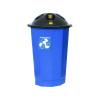 Black and Blue General Waste Bin Closed Flap 361043