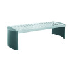 Cast Iron Backless Bench Silver and Black 370111