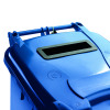 Blue Confidential Waste Wheelie Bin 140 Litre With Slot and Lid Lock 377891