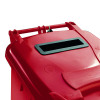 Red Confidential Waste Wheelie Bin 240 Litre With Slot and Lid Lock 377909