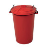 Light Duty Dustbin With Lid 110 Litre Red 382067